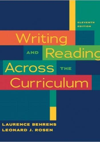 Writing and Reading Aacross the Curriculum