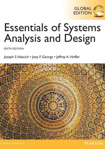 Essentials of Systems Analysis and Design 6 edition