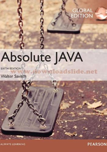 Absolute Java (6th edition) GE