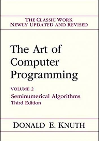Art of Computer Programming, The, Volumes 2: Seminumerical Algorithms (3rd edition)